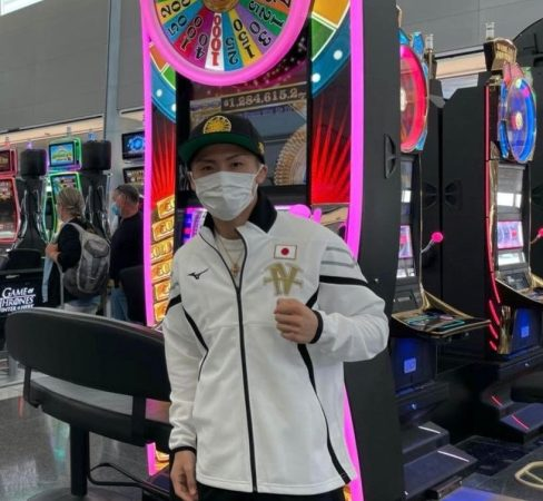 Inoue arrived in Las Vegas for his bout against Dasmarinas