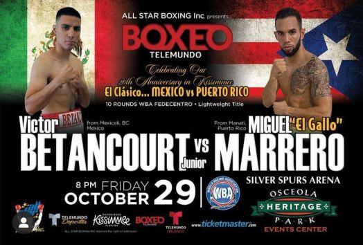 Betancourt-Marrero este viernes en Kissimmee por faja AMB-Fedecentro