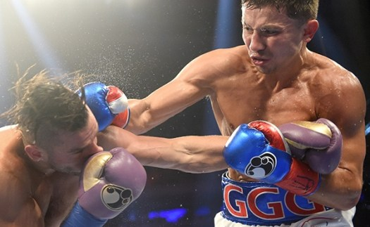 Gennady Golovkin vs David Lemieux. Fotos Naoki Fukuda