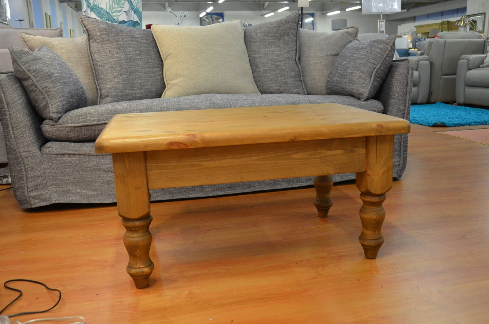 traditional coffee table handmade in solid pine
