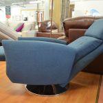 Ikon Grey Fabric Swivel Recliner Chair