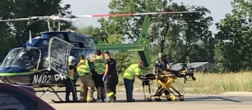 Louisville Hospital From Accident Scene