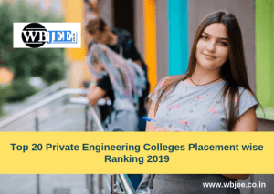 Top 20 Private Engineering Colleges Placement wise Ranking 2019-www.wbjee.co.in