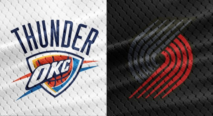 NBA Oklahoma City Thunder Portland Trail Blazers