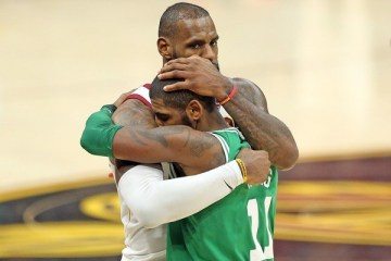 Kyrie Irving LeBron James Cleveland Cavaliers Boston Celtics Brooklyn Nets