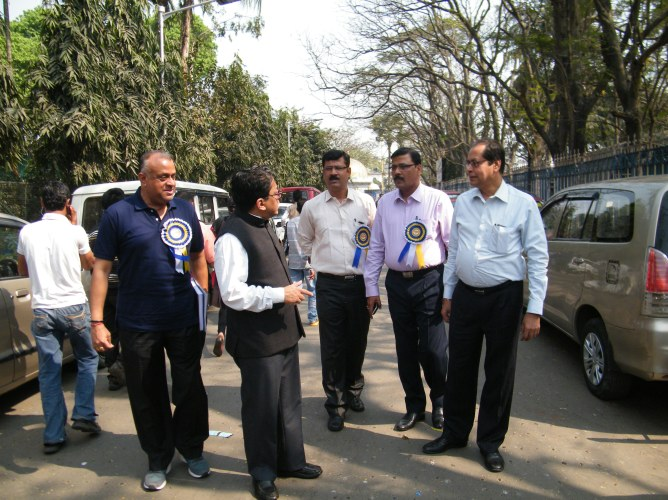 Principal Secretary, Transport Deptt. With the Officers