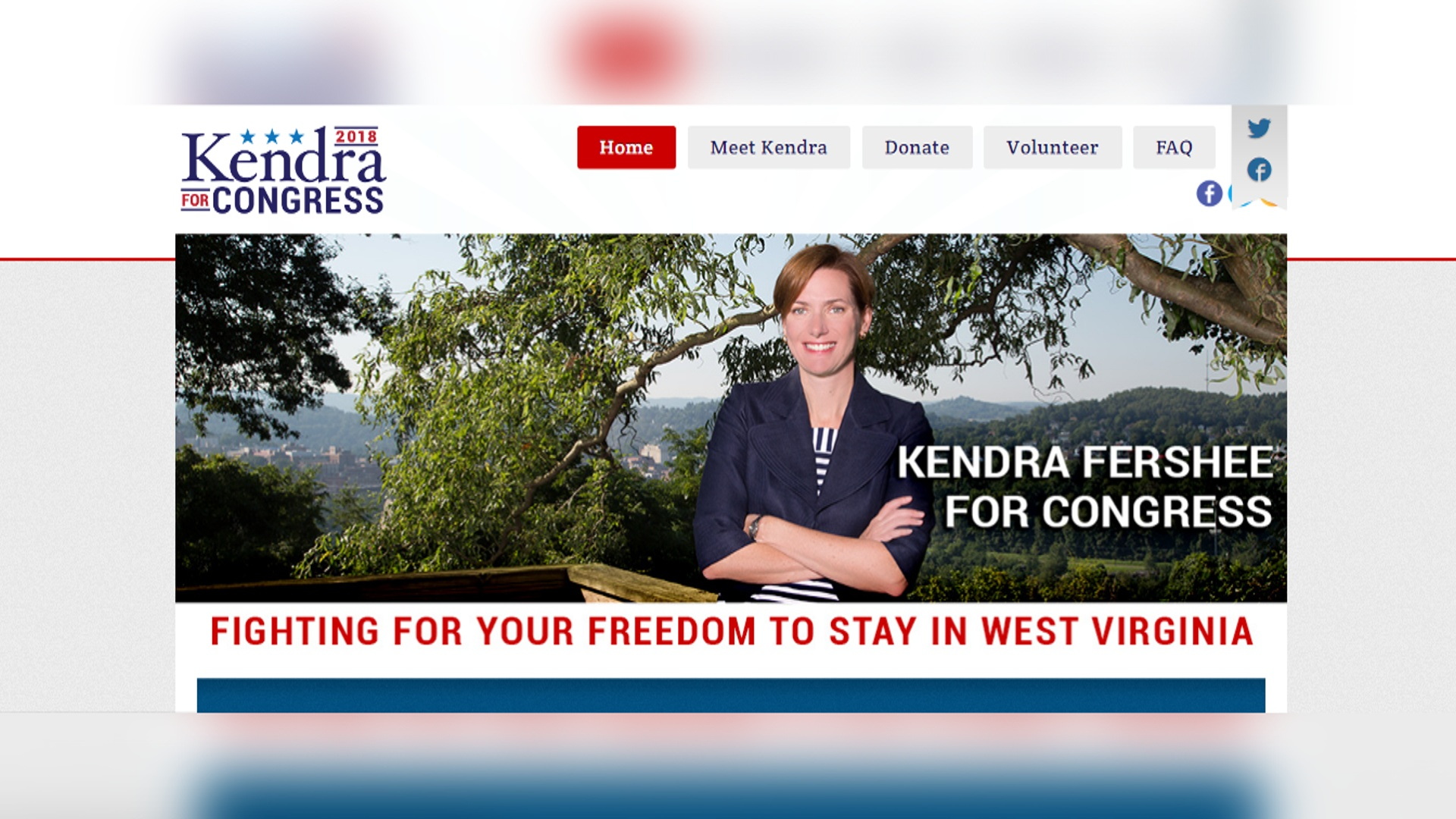Kendra Fersee's campaign website