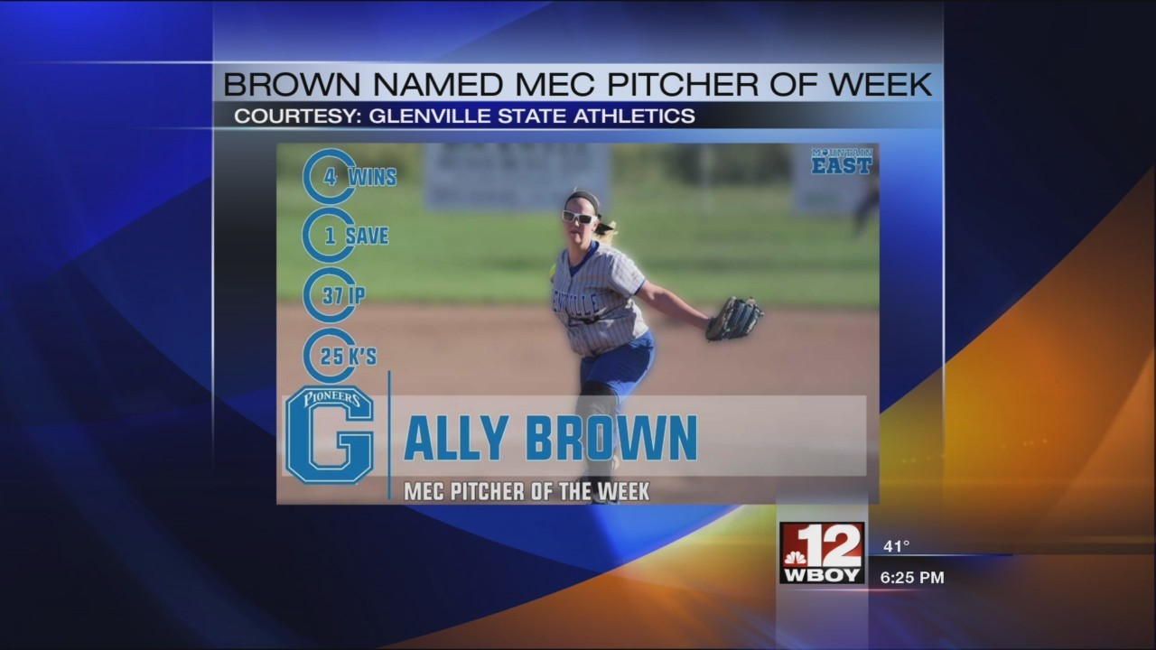 GSC's Ally Brown named MEC Pitcher of the Week