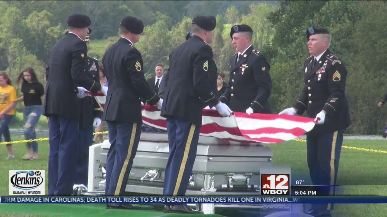 Funeral procession held for local soldier from Taylor County