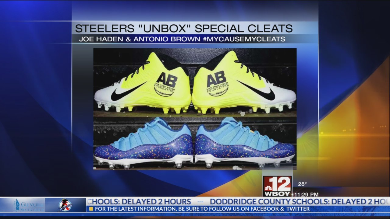 "Steelers players ""unbox"" My Cause My Cleats footwear"