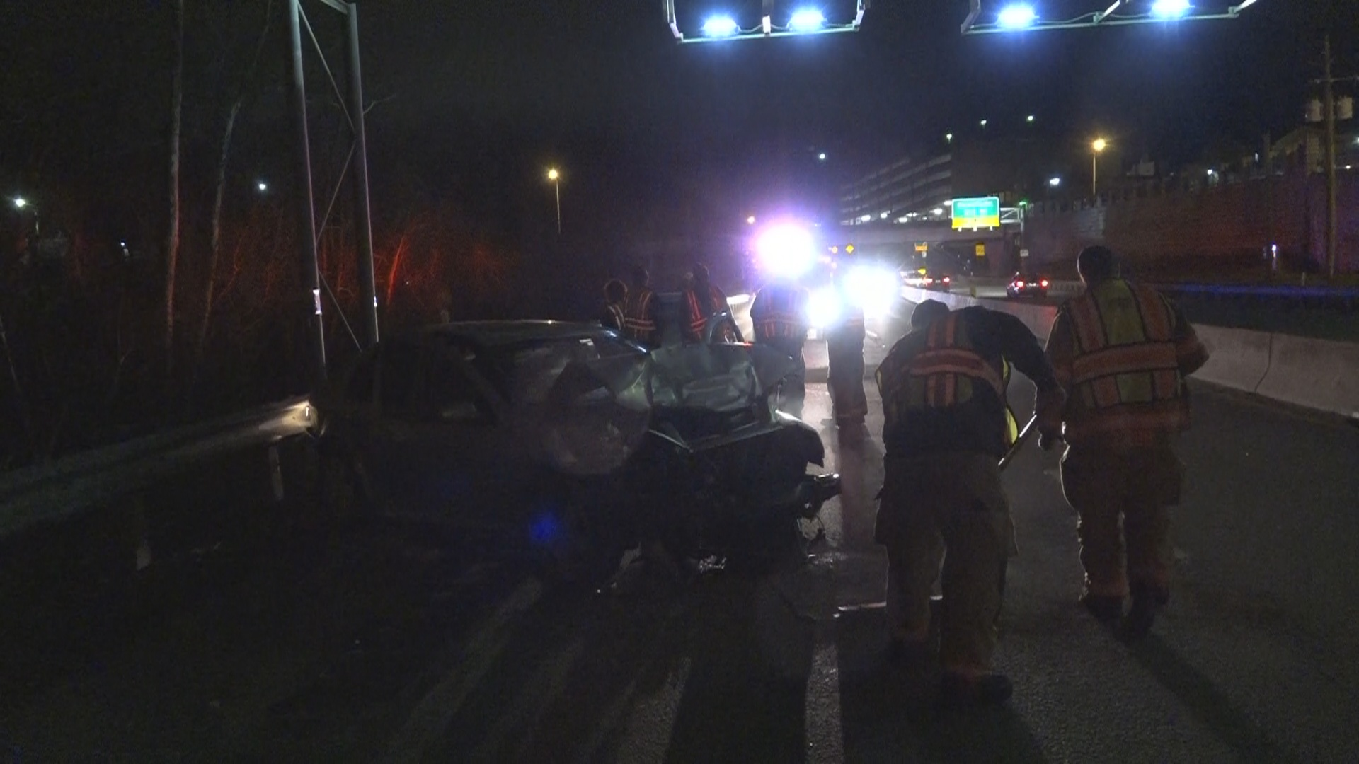 Mutiple vehicle accident slows traffic on Route 50 in Clarksburg