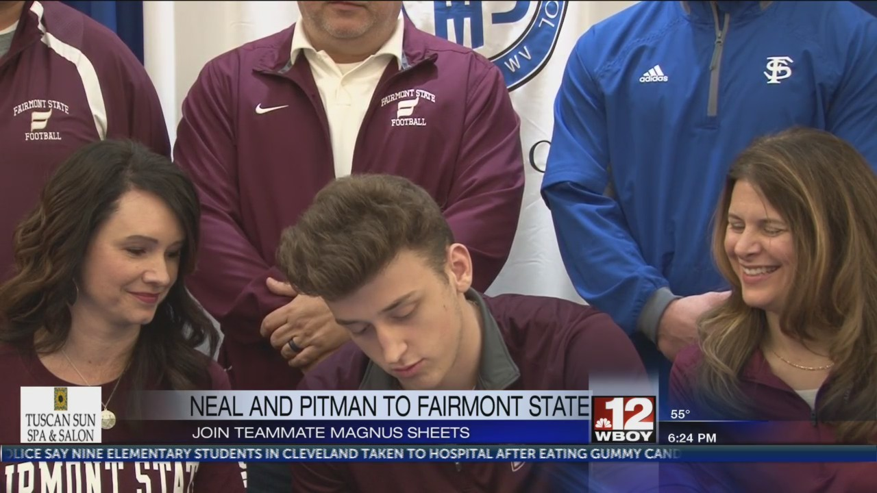 FSHS' Neal & Pitman sign with Fairmont State, & Coach Woodman reacts