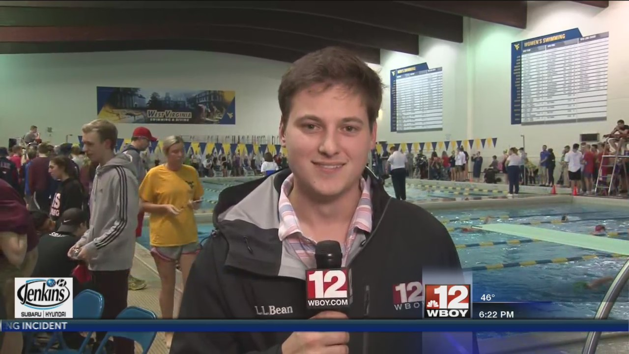 Mike Gilbert was live in Morgantown for the State Swim Meet