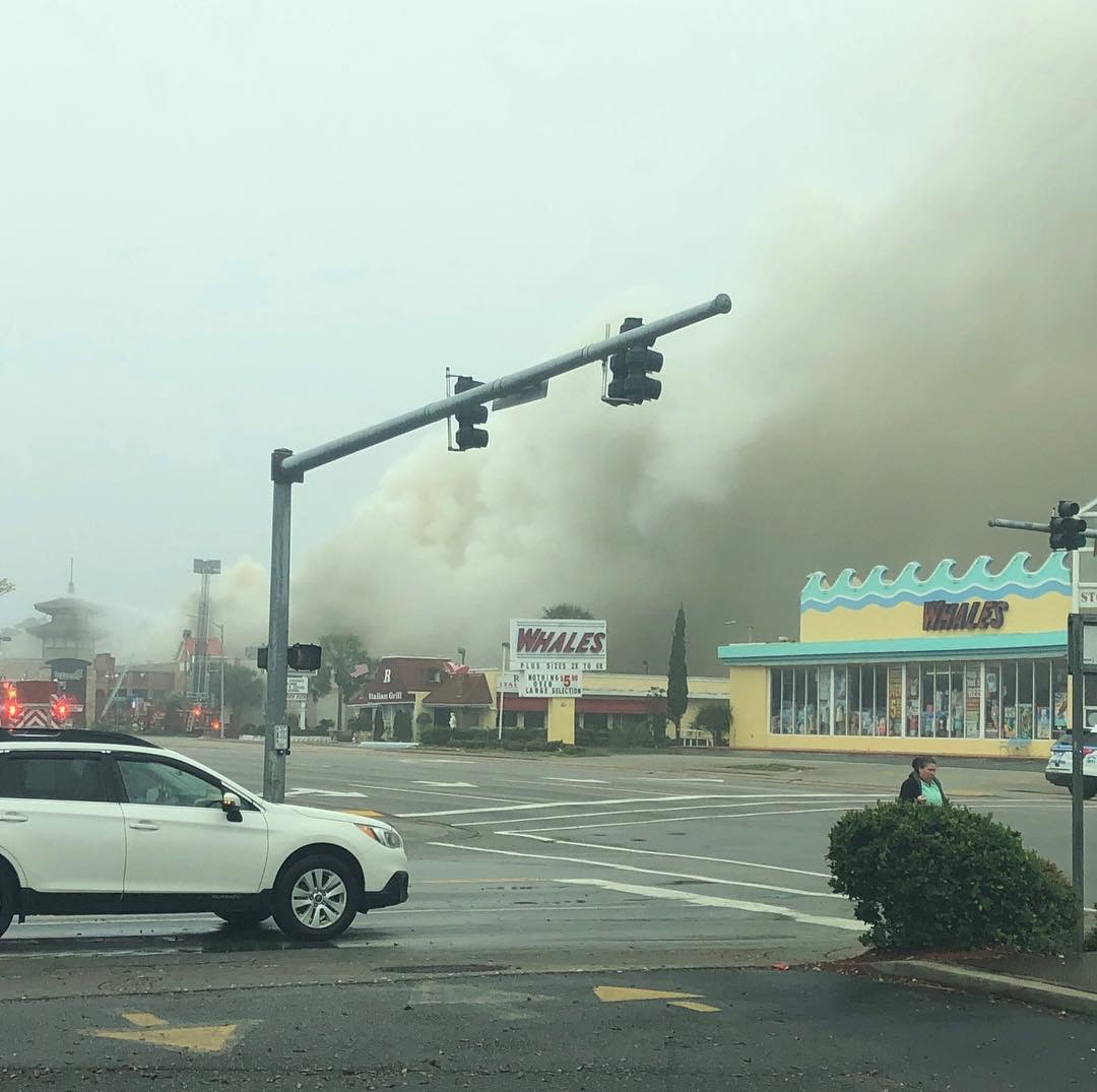 Restaurant Fire In Myrtle Beach Shuts Down Section Of Kings
