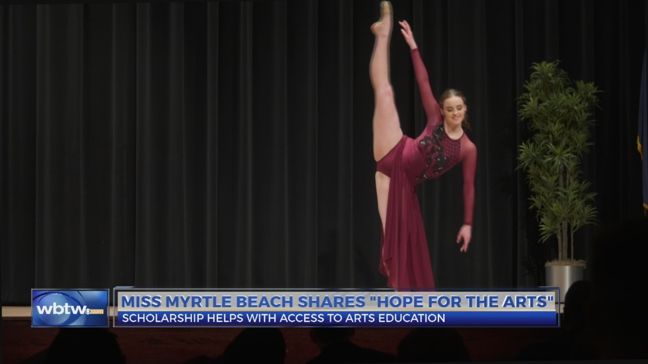 """Miss Myrtle Beach talks """"Hope for the Arts"""""""