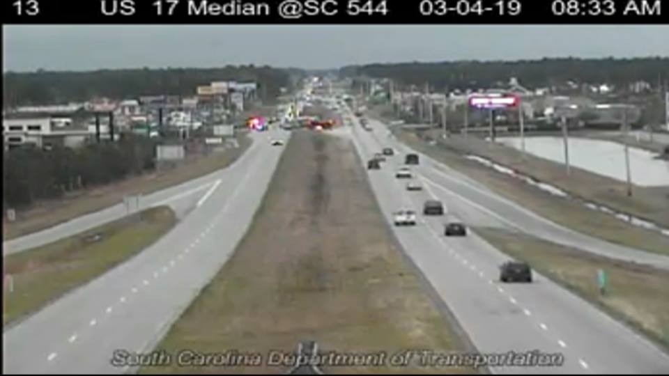 Update: Northbound lanes on Hwy 17 open