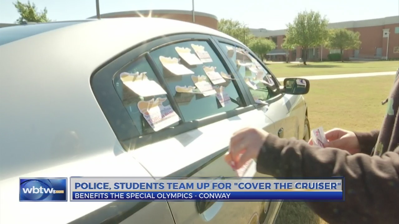 Police, students team up for 'Cover the Crusier' to benefit Conway Special Olympics