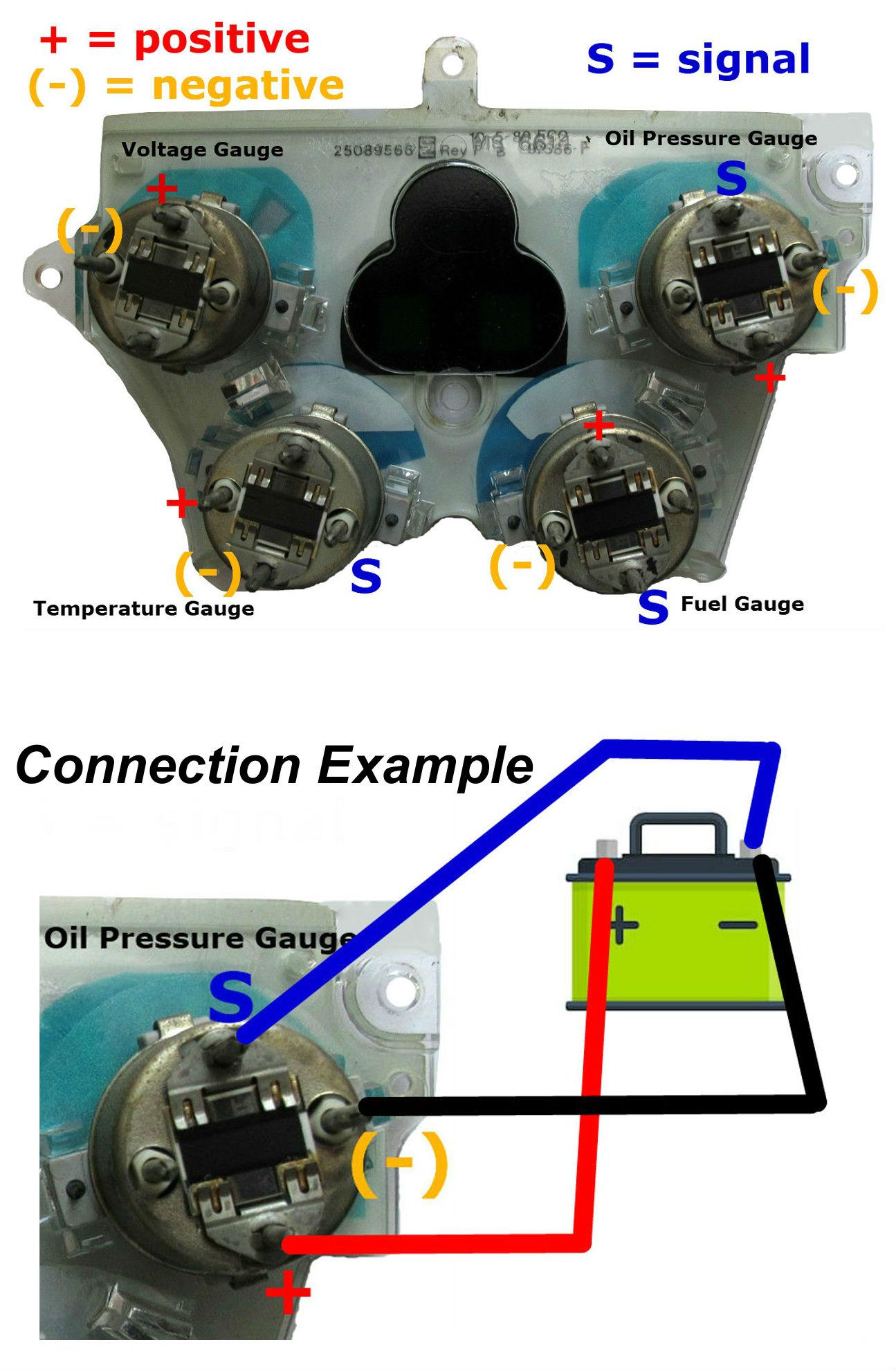 hight resolution of 90 92 camaro center gauge cluster testing diagram