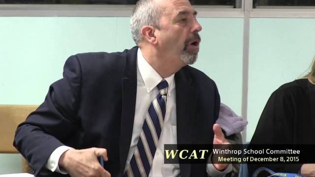 Winthrop School Committee Meeting of December 7, 2015