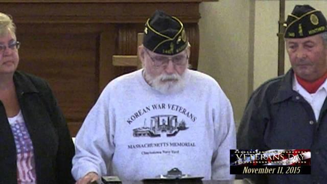 Winthrop's 2015 Veterans Day Service