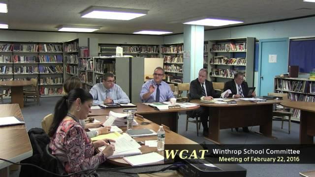Winthrop School Committee February 22, 2016