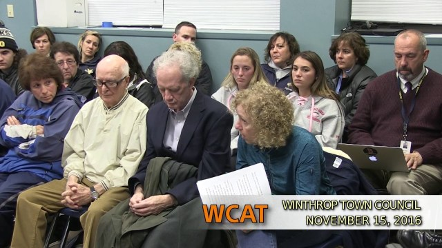 Winthrop Town Council Meeting, November 15, 2016