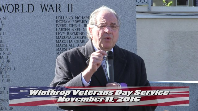 Winthrop's Veterans Day Service 2016