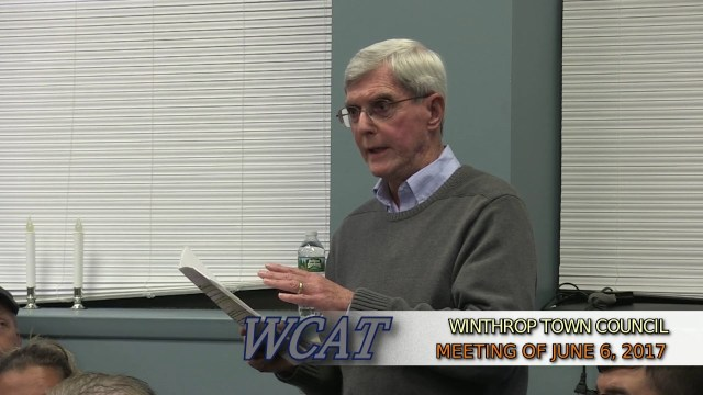 Winthrop Town Council Meeting of June 6, 2017