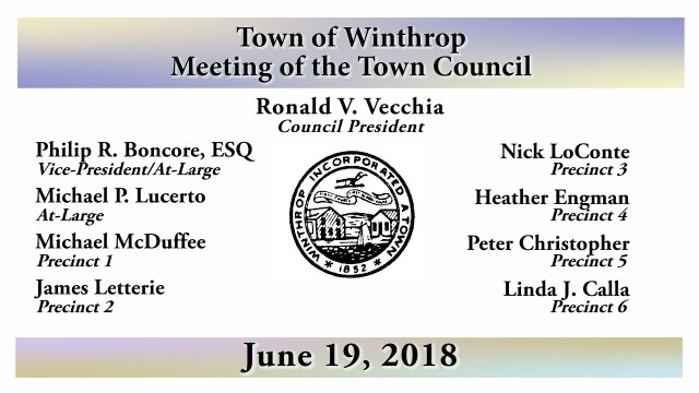 Winthrop Town Council Meeting of June 19, 2018