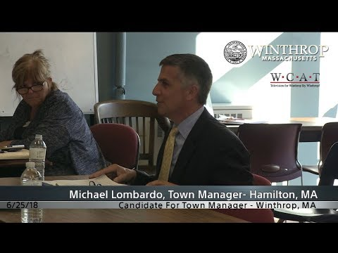 Winthrop, MA Town Manager Candidate Interview: Michael Lombardo