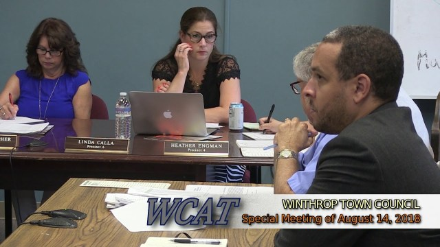 Winthrop Town Council Special Meeting of August 14, 2018