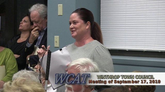 Winthrop Town Council Meeting of September 17, 2019
