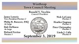 Winthrop Town Council Meeting of September 3, 2019