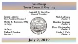 Winthrop Town Council Meeting of July 2, 2019