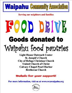 2015 Food Drive Flyer