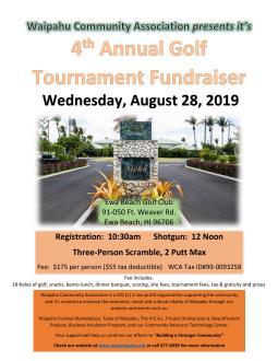 4th Annual WCA Golf Fundraiser