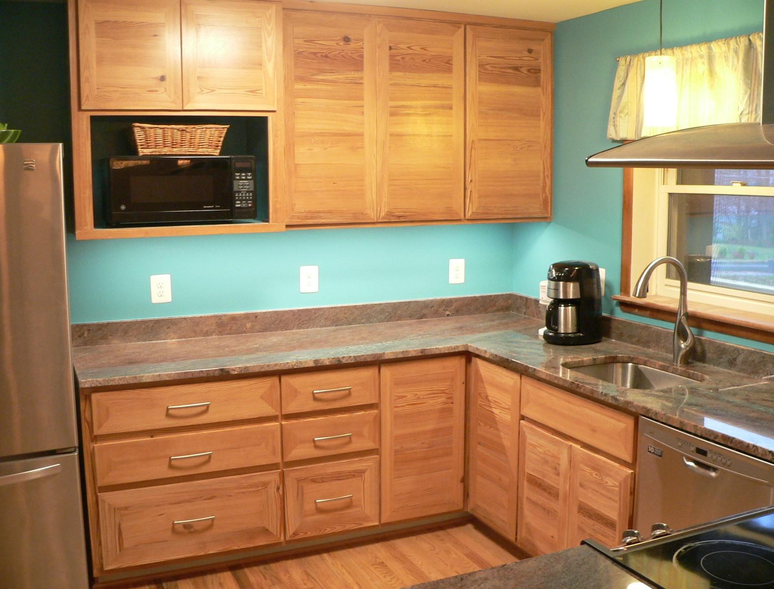 Pine Kitchen from reclaimed pine flooring  Wilson