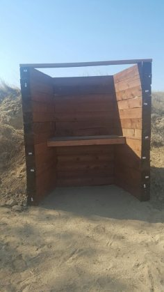 new wooden shooting station