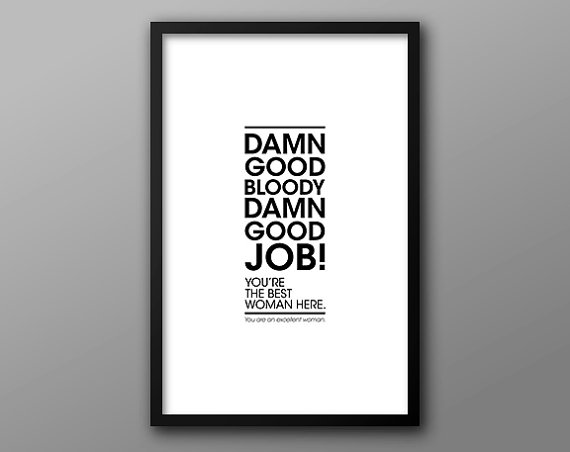 Motivational Typography Prints for Home or Office