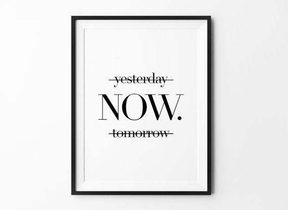 Motivational Black and White Typography Prints for Home of Office