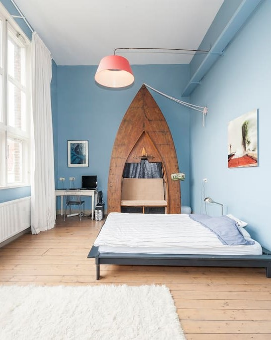 Blue Bedroom Converted Schoolhouse