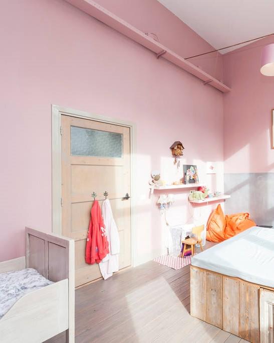Pink Bedroom Converted Schoolhouse