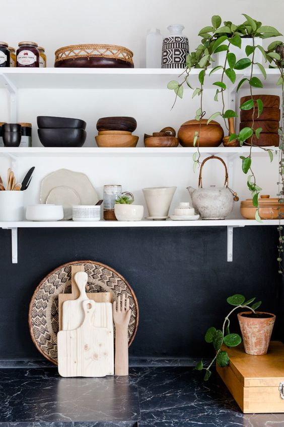 Stylish and Functional Open Shelving in the Kitchen