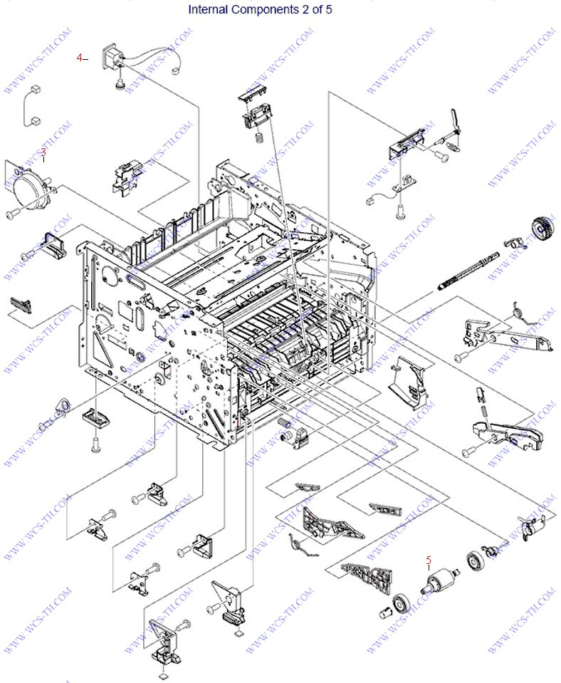 Diagram HP LaserJet P2055