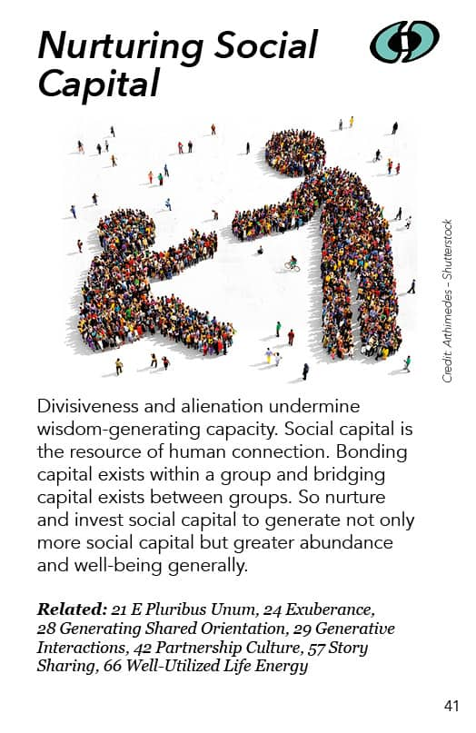 41 – Nurturing Social Capital