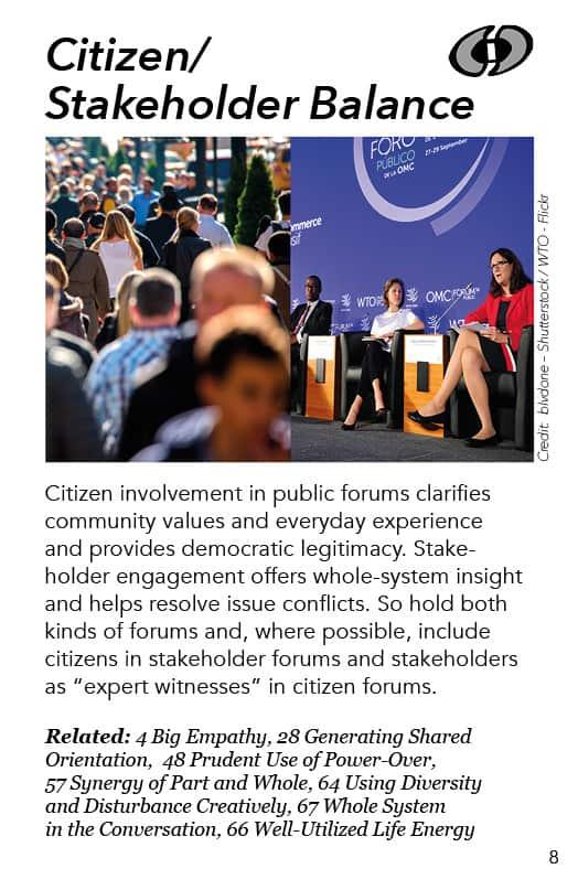 8 – Citizen/Stakeholder Balance