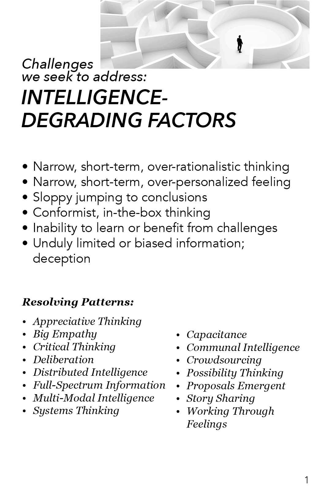 AAA - Intelligence Degrading Factors
