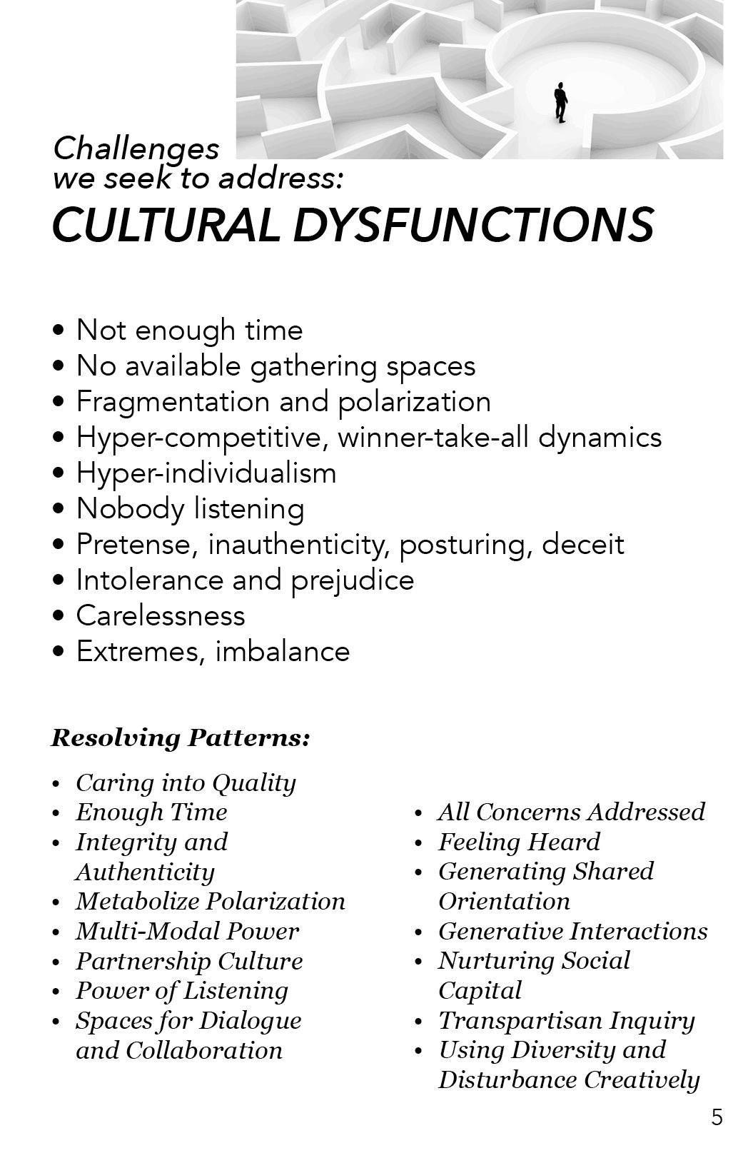AAA - Cultural Dysfunctions
