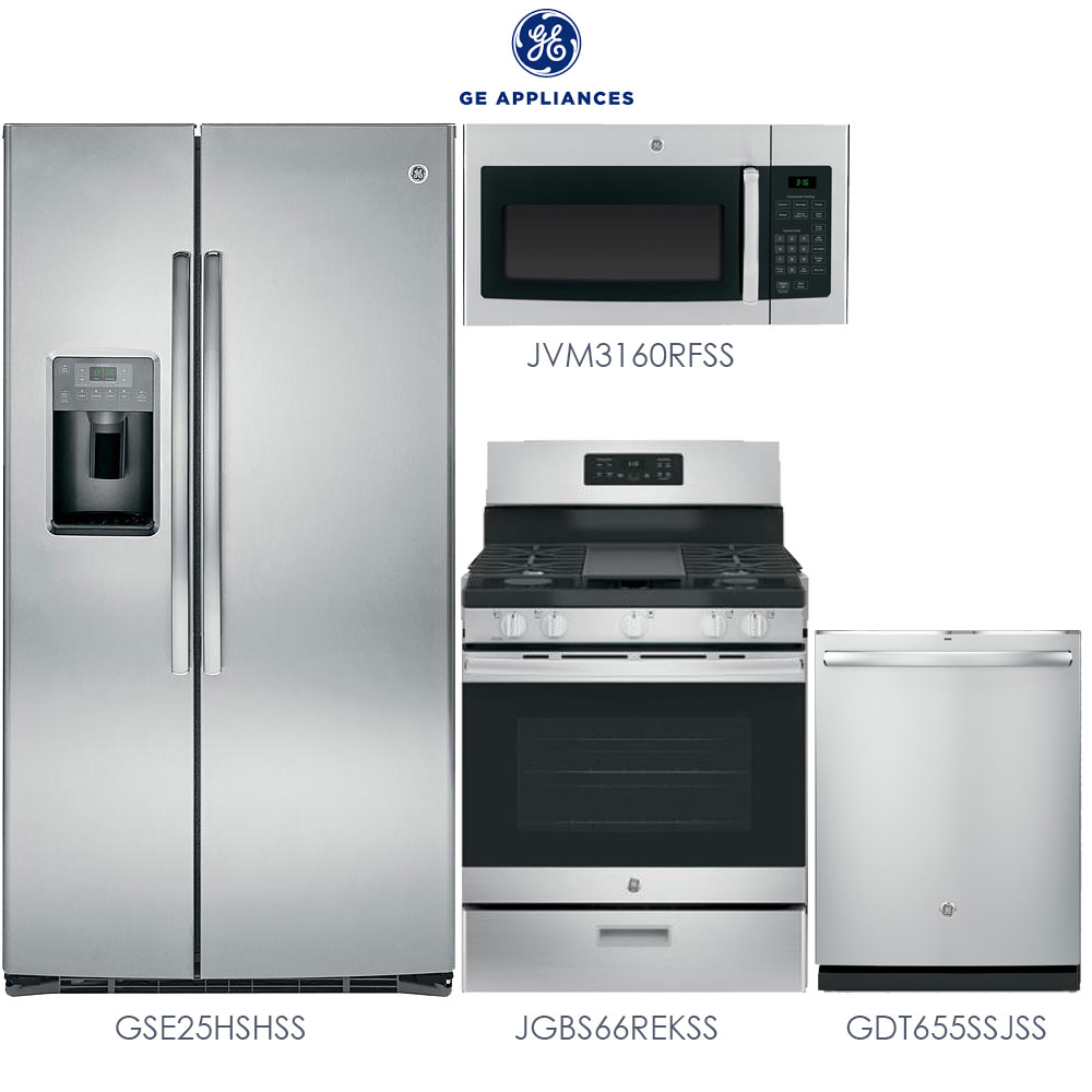 Discount Package GE 4Piece Stainless Steel Kitchen Package