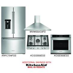 Cheap Stainless Steel Kitchen Appliances Marble Table For Sale Discount Package Kitchenaid 4 Piece